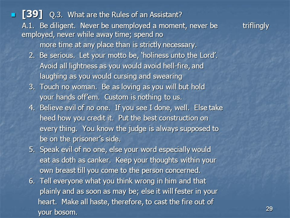 [39] Q.3. What are the Rules of an Assistant